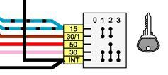 Ваз 2106 схема подключения замка зажигания